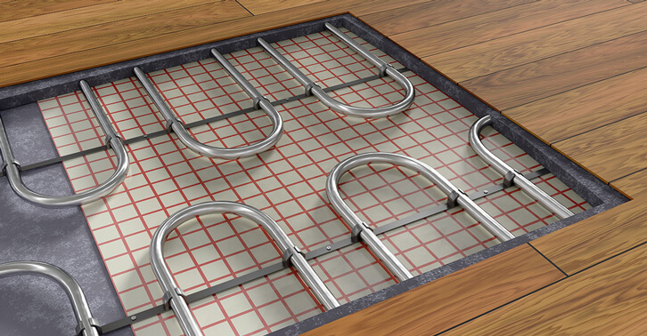 In floor heating options electric gurus floor for Heating options for house
